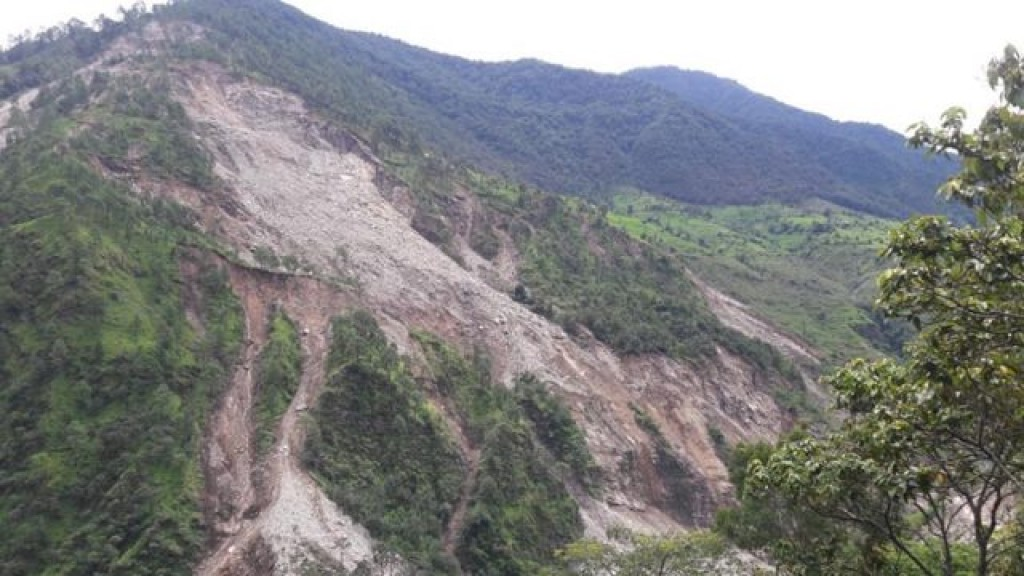 land slide in Budhiganga